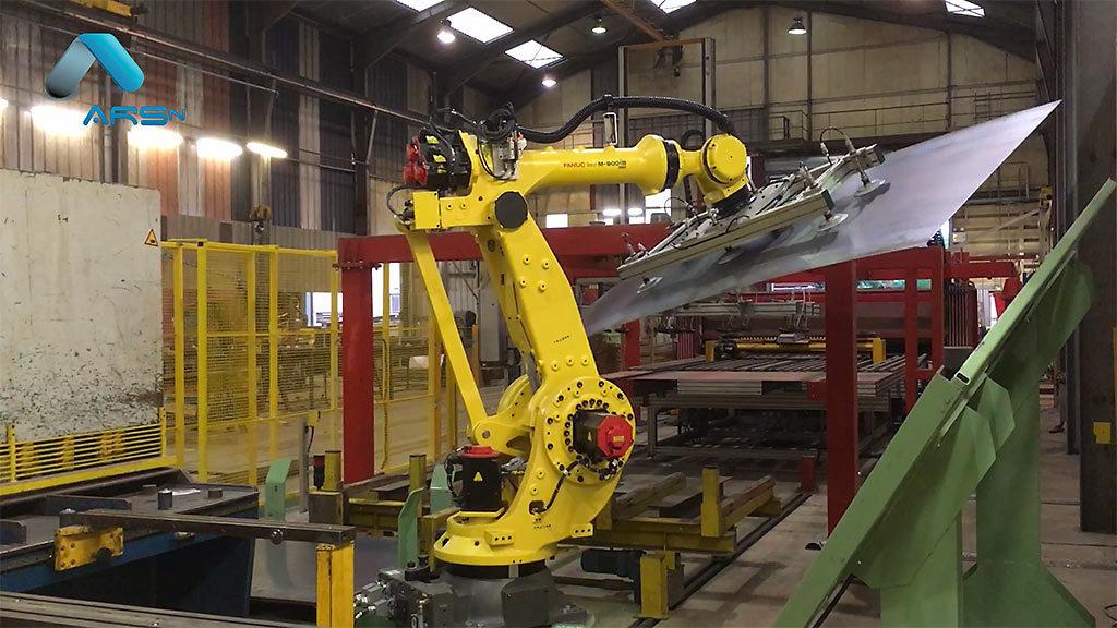 Découpage de tôles robotisé