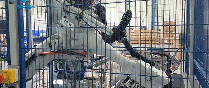 Robot de dépose de cordons de colle