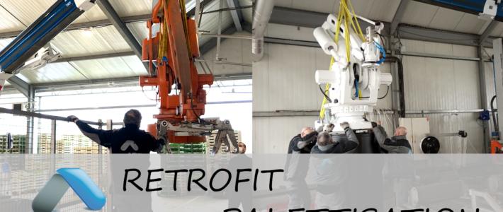 Rétrofit d'ilot robot de palettisation